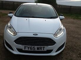 ford fiesta 1.5 tdci, registered 2016 in white