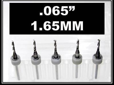 .065 - 1.65mm - 18 Shank Carbide Drill Bits Five Pcs Wood Plastic Metal Cnc R