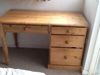 Heavy well made and in good condition pine dresser/ desk for sale.