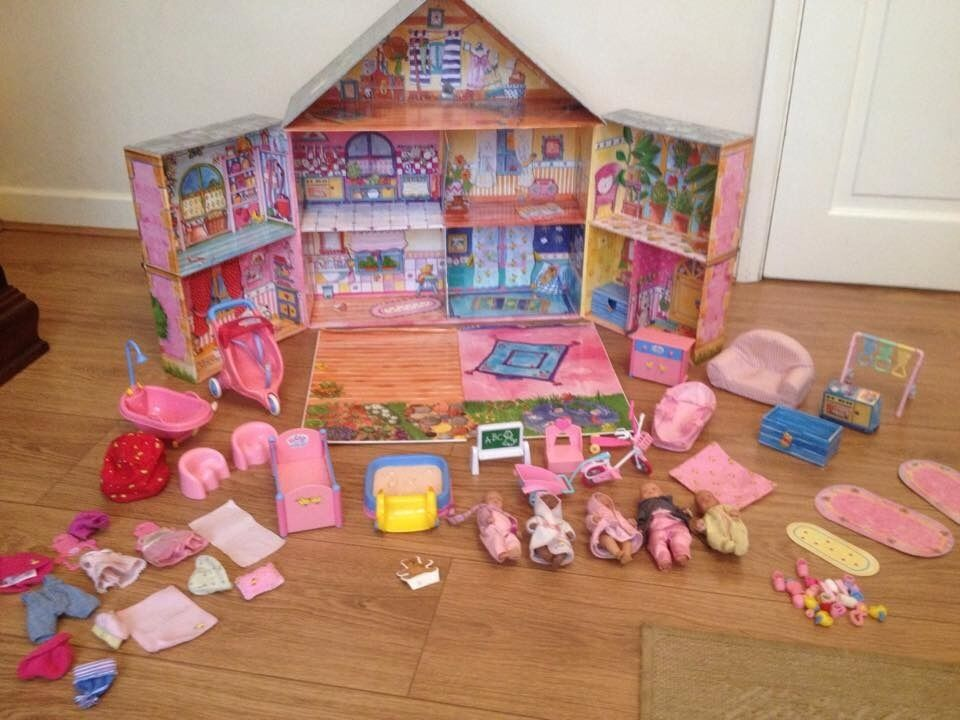 Baby Born Miniworld Fold Up Dolls House And Accessories
