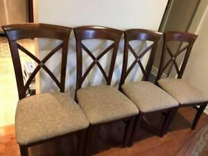 4 Durable chairs, seats recently replaced