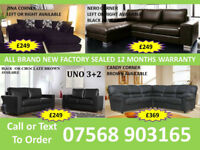 SOFA BEST OFFER BRAND NEW LEATHER SOFAS FAST DELIVERY