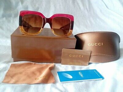 AUTHENTIC GUCCI OVERSIZED SQUARE PINK / BROWN  / TAN  EYEGLASSES FOR ME /WOMEN.