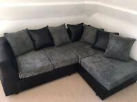 Brand New Dylan Corner Sofa Quality Jumbo Cord Fabric