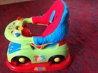 Mothercare rocker/babtwalker/stroller as new. Activity tray. Complete