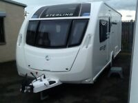 2013 sterling ECCLES sport 584 fixed island bed 4 berth end changing room with fitted mover