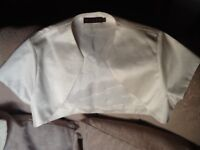 Beautiful Ivory wedding bolero, used but still in excellent condition, size 10, by Debut