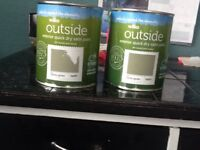 QUICK DRY OUTSIDE SATIN PAINT SUITABLE FOR WOOD OR METAL -COLOUR COUNTRY GARDEN 750 ml