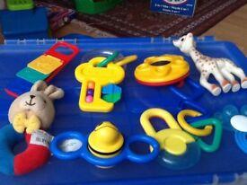 Pram Toys and Baby books