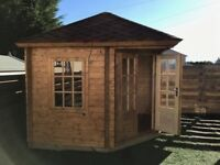 Sale on 2 stunning ex demo log cabins summerhouses!