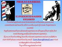 Experienced Male or Female Barber required in a busy shop in Wimbledon Broadway