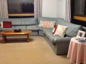 7 Seater Leather Corner Couch Horsham Horsham Area Preview
