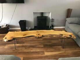 Solid real wooden bench, coffee table