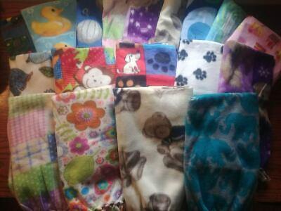 Handmade Fleece Baby Blankets Nursery Throw Made with Love U Pick (Crib Throw Cream)