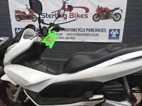 PCX 125 WHITE IN VERY GOOD CONDITION LOW MILEAGE 13000 FOR £1650