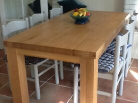 Dining / Kitchen Oak Table. 1.8 x .9 M