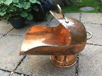 Copper and Brass Coal Scuttle