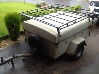 Car trailer 4x3 fully galvanised trailer