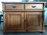 Beautifully crafted, solid pine sideboard, originally cost £600 new from John Lewis.