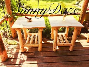 Handcrafted Log and Live Edge furniture and home decor .