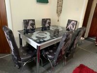 IMPORTED HIGH GLOSS DINING TABLE WITH 4 & 6 CHAIRS IN STOCK