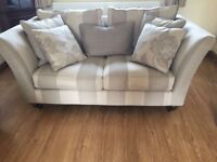 3 piece suite/Sofa. 3 seater + 2 seater + foot stall