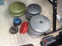 Vinyl and cast weights BARGAIN job lot.