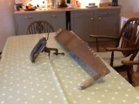 Vintage 2 handed saw, and Paramo saw sharpener