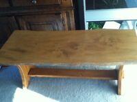 varnished elm coffee table