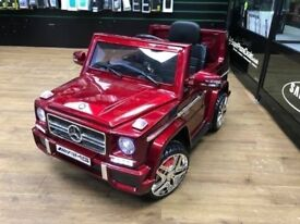 MERCEDES G WAGON KIDS RIDE ON ELECTRIC REMOTE CONTROL CAR WITH RECEIPT