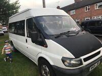 ford transit 9 seater minibus/van 2.4td