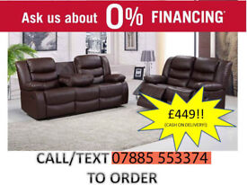 sofa leather 3 and 2 recliner