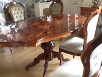Beautiful Italian Dining Table with 6 Chairs