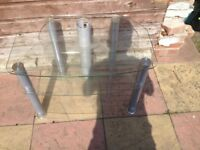 glass tv stand good condition only £4.00