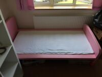 Ikea pink mammut kids bed with mattress