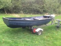 Fishing boat.13 foot.with trailer.seagull5 hp engine.