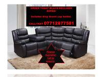 leather sofa corners black or brown.