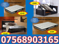 BED BRAND NEW DOUBLE TV BED MATTRESS DOUBLE KING FAST DELIVERY 94131