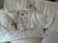 Cot Bed Bumper, Quilt & Blanket