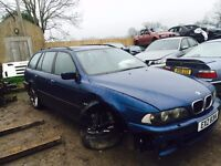 FOR PARTS - 2003 BMW E39 530i TOURING M54B30 AUTOMATIC TOPAZ BLUE LPG CONVERTED - SPARES