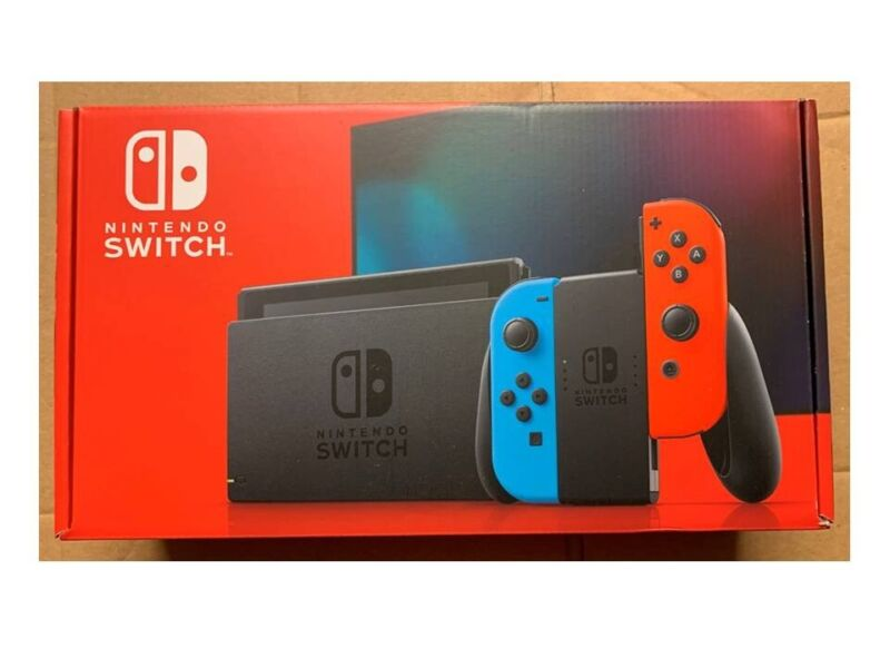 Nintendo Switch Console with Neon Blue & Red Joy-Con Brand New