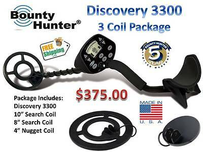 Discovery 3300 Metal Detector - BOUNTY HUNTER DISCOVERY 3300 Metal Detector