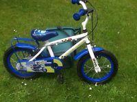 Reduced boys police bike 10 inch frame tyres 14x2x125