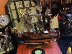 The bounty ship wooden model