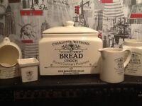 Charlotte Watson ,bread bin ,tea coffee ,sugar