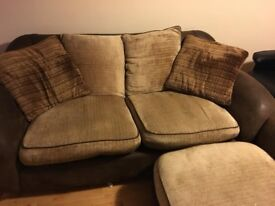 Fabric 2 Seater Sofa and Armchair