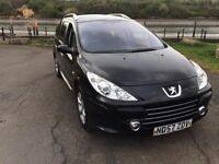 2007 Peugeot 307 1.6 hdi 7 seater option tax and tested family car cheap tax