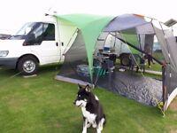 Camper Van / Day van + Camping Trailer Unit ( Dog Unit ) SWAP / PX .. For Caravan