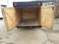 """6ft x 4ft 4"""" Box trailer with double doors"""