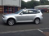 BMW X3 M Sport 2007, LOW MILEAGE. 1 previous owner. FSH full service history. 4 New tyres. 2 keys.